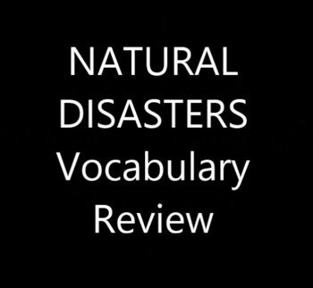 Nature and Weather C: Natural Disaster Vocabulary Practice video