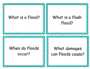 Natural Disaster Question Cards