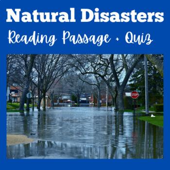 Natural Disasters Worksheet | Reading Passage