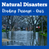 Natural Disasters | 3rd 4th 5th 6th Grade | Reading Activi