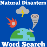 Extreme Weather Activity | Natural Disasters Worksheet (Word Search)