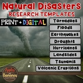 Natural Disasters Fact Sheets: Note-Taking Templates