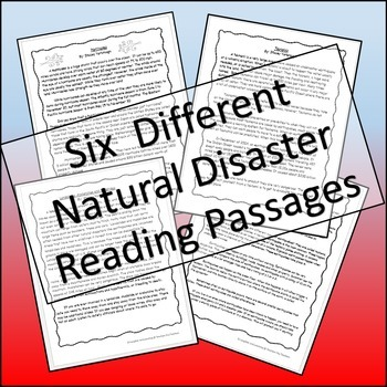 Natural Disasters - Reading Passages and Comprehension Activites
