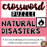 Natural Disasters Activities for ESL Crossword Puzzle