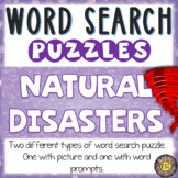 Natural Disasters Activities for ESL Word Search Puzzles