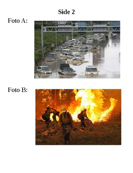 Natural Disasters Assessment - Authentic Resources (Spanish)