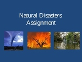 Natural Disasters Assignment - Humanities, Geography, Science.