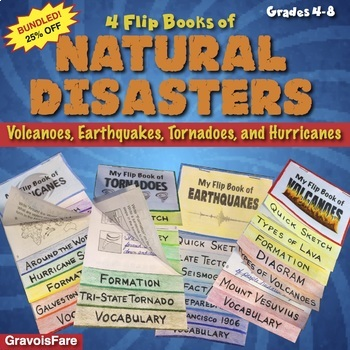 Natural Disasters BUNDLE of Volcanoes, Earthquakes, Tornad