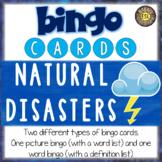Natural Disasters ESL Activities Bingo Cards