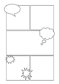 Natural Disasters Blank Comic Strip Template