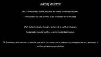 Natural Disasters - Bushfires and Their Affect On People PowerPoint Presentation