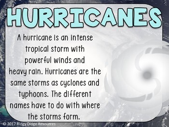 Natural Disasters Classroom Posters