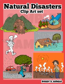 Natural Disasters Clip Art Set