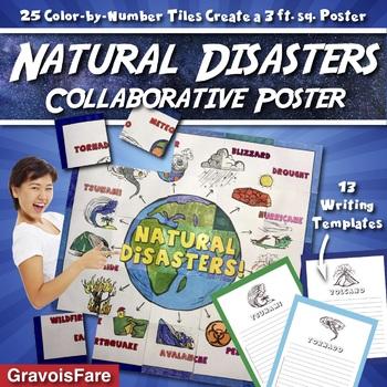 Natural Disasters Collaborative Poster --- Bulletin Board and Writing Activity