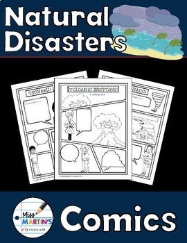 Natural Disasters Comics - Non-Fiction Writing Activity