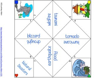 Natural Disasters Cootie Catcher