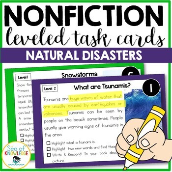 Nonfiction Leveled Reading Passages and Questions - Natural Disasters