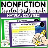 Natural Disasters Reading Passages - Leveled Nonfiction Task Cards