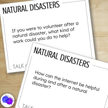 Natural Disasters: Discussion Topic Cards