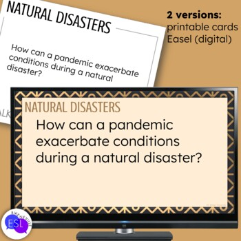 Natural Disaster Themed Discussion Topics