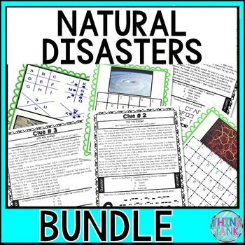 Natural Disasters ESCAPE ROOMS BUNDLE! Earth Science - No Prep, Print & Go