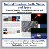 Natural Disasters: Earth, Water, & Space Reading Article - Grade 8 and Up