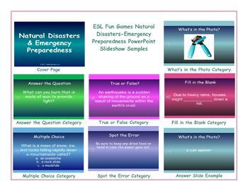 Natural Disasters-Emergency Preparedness PowerPoint Slideshow