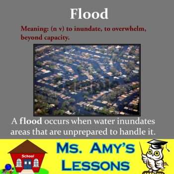 Natural Disasters: Water Vocabulary Terms & Concepts