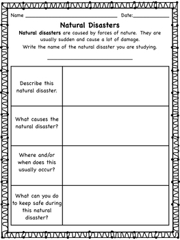 Natural Disasters: Five Informational Reading Passages