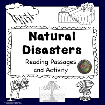 Natural Disasters: Five Informational Reading Passages - Black and White