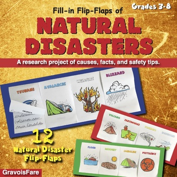 Natural Disasters Flip Flap Books Volcanoes Earthquakes Tornadoes More