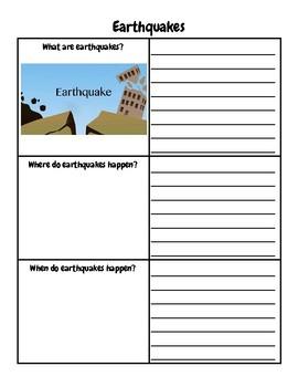 Natural Disasters Graphic Organizer