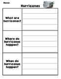 Natural Disasters Graphic Organizer - Hurricanes