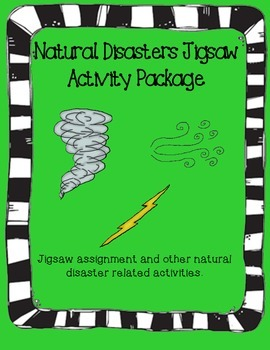 Natural Disasters Jigsaw Activity Package