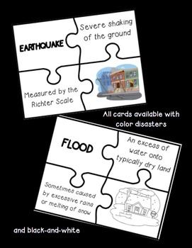 Natural Disasters Matching Puzzle Game