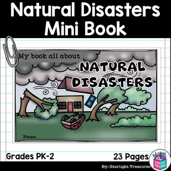 Natural Disasters Mini Book for Early Readers