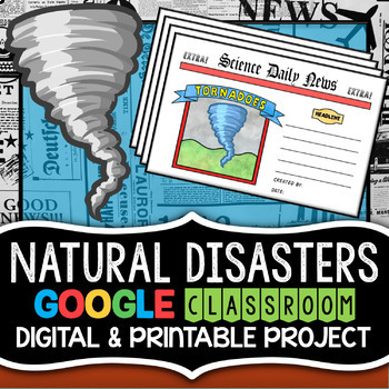 Natural Disasters Project - Newspaper Format