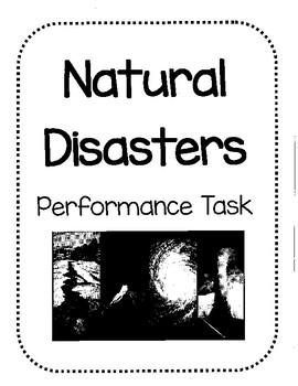 Natural Disasters Performance Task
