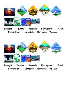Natural Disasters Picture Activity