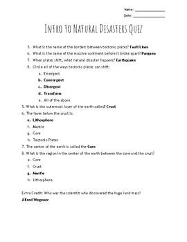 Natural Disasters/Plate Tectonics