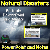 Natural Disasters - PowerPoint and Notes