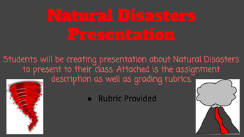 Natural Disasters Project/Assessment