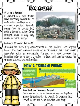 Natural Disasters Reading Comprehension Pack