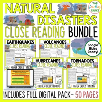 Natural Disasters Reading Comprehension Passages and Questions