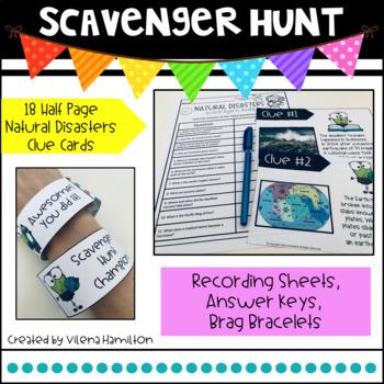 Natural Disasters Scavenger Hunt