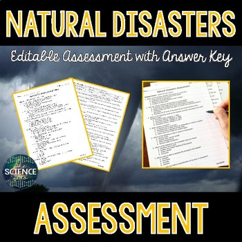 Natural Disasters Science Assessment - Distance Learning Compatible