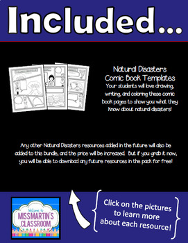Natural Disasters Science Bundle