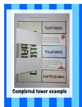 Natural Disasters Science INteractive Notebook Foldable