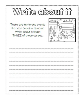 Natural Disasters Science Notebook Writing Prompts