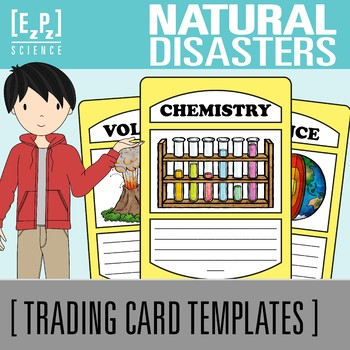 Natural Disasters Science Trading Cards